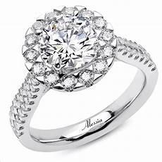 alessia 18k white gold cut diamond engagement ring