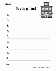 spelling test worksheets to print 22573 classroom freebies fern smith s blank spelling test sheets