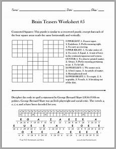 riddle worksheets high school 10914 brain teasers worksheet 5 free to print pdf grades 4 and up printable brain teasers