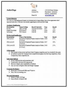 awesome one page resume sle for freshers resume format for freshers sle resume format