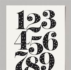 lettering zahlen procrastination polka dot number print
