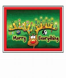 merry everything christmas card merry everything the great cosmic happy card co
