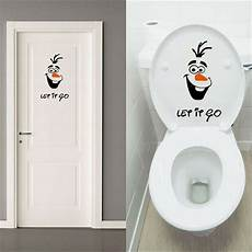 olaf let it go toilet seat wall sticker vinyl decal