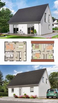 modernes einfamilienhaus mit satteldach putz fassade 5