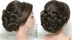 bridal hairstyle for long hair tutorial updo for wedding youtube