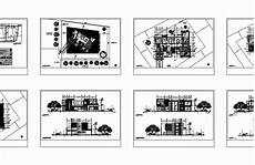 veranda dwg large house with veranda 2d dwg plan for autocad designs cad