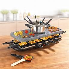 gourmetmaxx raclette und fondue set granitlook 1600w ebay