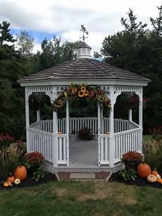 Outside Gazebo Wedding Decoration Ideas decorated gazebo for a fall wedding from the garden path
