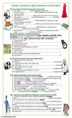 grammar practice worksheets for high school 25067 fce and intermediate exercises interactive worksheet