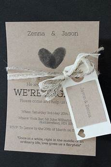 my diy rustic engagement party invitations with twine