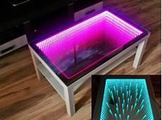 birch table led 3d coffeetable illuminated infinity mirror
