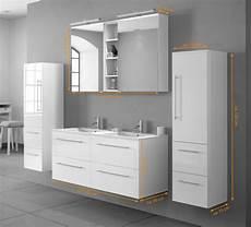 Badmöbel Set Weiß - sam 174 badm 246 bel set 4tlg doppelwaschtisch 120 cm hochglanz
