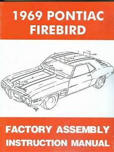 car repair manual download 1969 pontiac firebird parking system 1969 firebird 400 trans am assembly manual new ebay