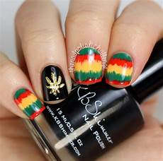 kelli marissa rasta nail art with hex nail jewelry