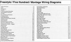 2005 mercury montego fuse box diagram 2005 freestyle 500 montego wiring diagram manual original