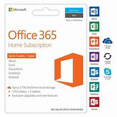 microsoft office 365 home 5 device 12 months card ebay