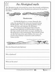 reading comprehension myth about thunderstorms