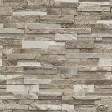 P S International Slate Brick Pattern Faux Effect