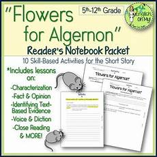 flowers for algernon worksheets activities reader s workshop by english oh my