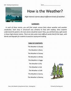 weather reading comprehension worksheets 14512 reading comprehension worksheet how is the weather collection