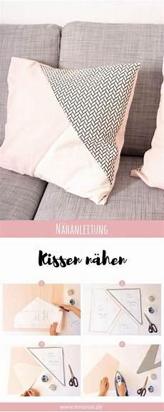 einfaches sofa selber einfache kissen n 228 hen mit geometrischer teilung kissen