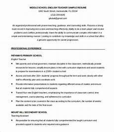 51 teacher resume templates free sle exle format
