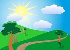20 Gambar Animasi Bergerak Cuaca Cerah