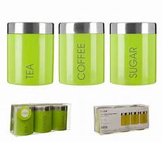 Lime Green Tea Coffee Sugar Storage Jars lime green liberty enamel tea coffee sugar bread biscuit