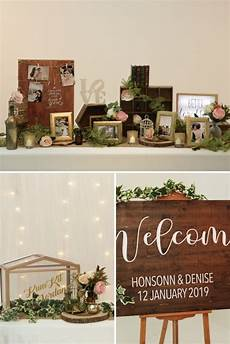 rustic themed wedding reception decor la couture