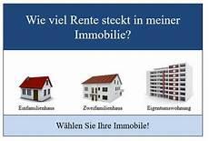 rechner m 246 gliche immobilienrente bei der