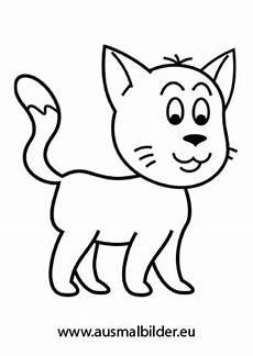 ausmalbilder junge katze katzen malvorlagen