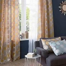 castorama rideaux et voilages rideau colours andreas jaune 140 x 240 cm coussins