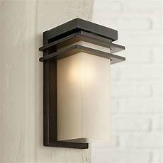 bronze and opal 12 quot high rectangle outdoor wall light p3309 ls plus