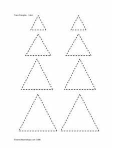 trace an color triangles pre k 1st grade worksheet