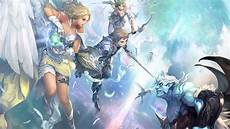 painting of warrior and fairies attacking monster hd wallpaper wallpaper flare