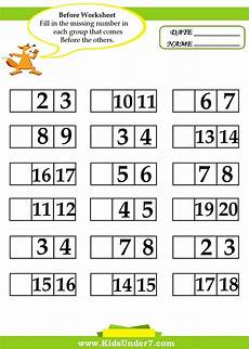 math numbers before and after kids 7 before and after worksheets math worksheets 1st