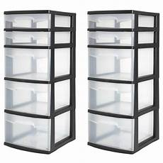 In Drawer Storage by 5 Drawer Tower Plastic Organizer Home Cabinet Office