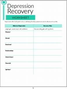 plr worksheets depression recovery worksheet plr me