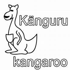 kostenlose malvorlage englisch lernen k 228 nguru kangaroo