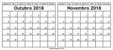 mensal calendario outubro novembro 2018 imprimir edit 225 vel thalita calendario