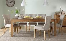 8 Seater Dining Room Table And Chairs by Highbury Oak Extending Dining Table With 8 Bewley Oatmeal