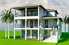 plan 15238nc elevated coastal house plan with 4 bedrooms