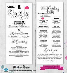 diy fun wedding program template printable editable template
