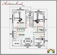 house plans in kerala with 2 bedrooms 2 bedroom house plan and elevation in 700 sqft
