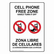 zone de télé cell phone free zone kindly turn it bilingual sign nhb