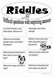 esl riddles worksheets 10892 15 free esl icebreakers worksheets