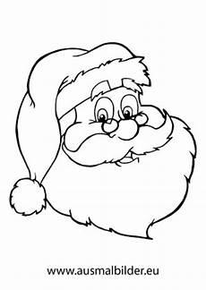 ausmalbilder weihnachtsmann mit vollbart