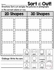 2d or 3d shape sort shapes worksheet kindergarten shape worksheets for preschool shapes