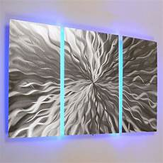 modern abstract metal wall art color changing led lighting painting home decor ebay