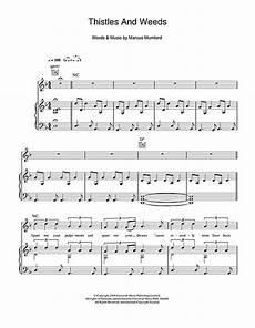 thistle weeds sheet music by mumford sons piano vocal guitar right melody 101766